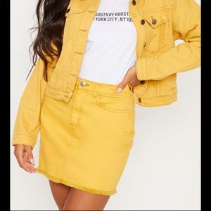 Mustard Jean skirt